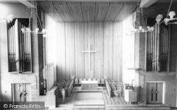 Congregational Church Interior c.1960, Stowmarket