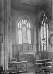Stowmarket, Parish Church, Lady Chapel 1922