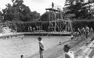 Stowmarket, the Swimming Pool c1955