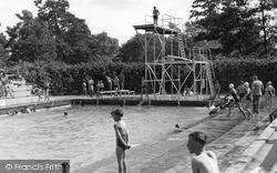 The Swimming Pool c.1955, Stowmarket