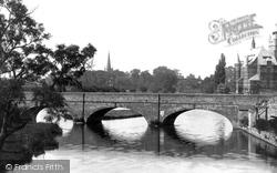 Bridge And Church Spire 1892, Stratford-Upon-Avon