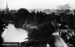 Stratford-Upon-Avon, General View From Memorial Theatre c.1930