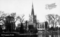 Stratford-Upon-Avon, Holy Trinity Church From Island 1883