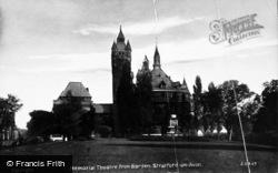 Stratford-Upon-Avon, Memorial Theatre From Garden c.1931