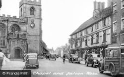 Stratford-Upon-Avon, Old Guild Chapel And Falcon Hotel c.1955