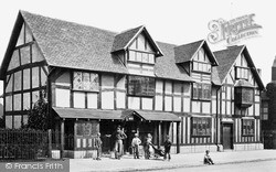 Stratford-Upon-Avon, Shakespeare's Birthplace After Restoration 1861