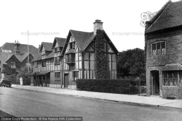 Photo Of Stratford Upon Avon Shakespeares House 1922