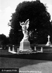 Stratford-Upon-Avon, The Marie Corelli Memorial c.1931