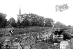 Trinity Church And Locks 1892, Stratford-Upon-Avon