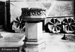 Stratford-Upon-Avon, Trinity Church Font 1892