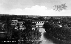 Stratford-Upon-Avon, View From Tower Of Bridges c.1931
