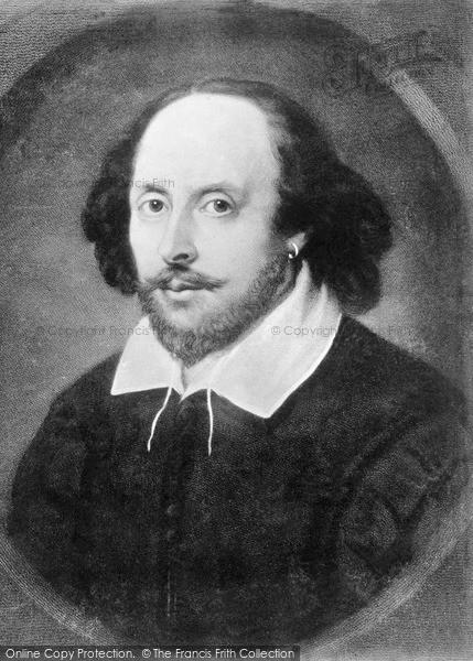 Photo Of Stratford Upon Avon William Shakespeare 1564 1616 The Chandos Portrait 1890