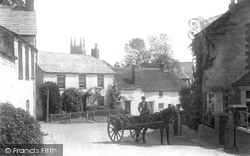 Stratton, A Horse And Cart In The Village 1906
