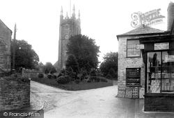 Stratton, St Andrew's Church And Post Office 1910