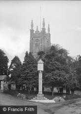 Stratton, St Andrew's Church and War Memorial 1935