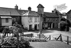 The War Memorial And Post Office c.1955, Stratton