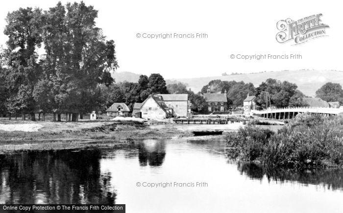 Streatley,Mill and Bridge 1890,Berkshire