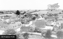 The Green And School From The Church Tower c.1960, Stretton