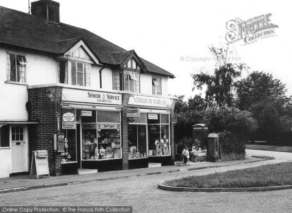 Strood Green, the Shops 1963