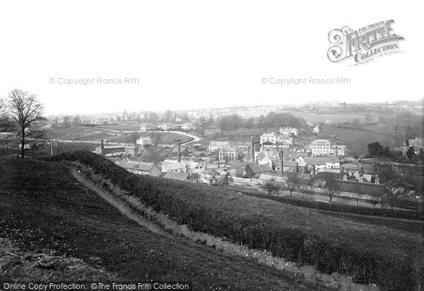 Stroud, from above Butter Row 1890