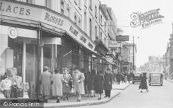 Stroud, Shoppers, George Street c.1955