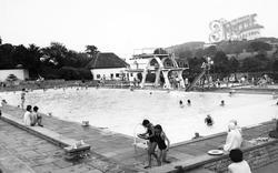 Stroud, Stratford Park, Swimming Pool c.1960