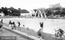 Stroud, Stratford Park, Swimming Pool c.1960
