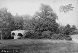 Strowan, The Bridge And Baird Monument 1899