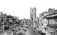 Sudbury, Market Hill and St Peter's c1960