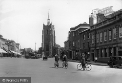 Sudbury, Market Hill And St Peter's Church 1932
