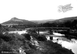 Sulby, Footbridge And Primrose  Hill 1894