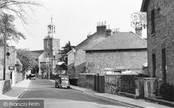 Sunbury, Church Street And St Mary's Church c.1955