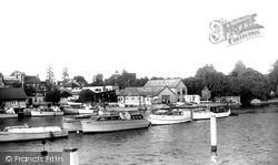 Sunbury, Clarks Boat House c.1955