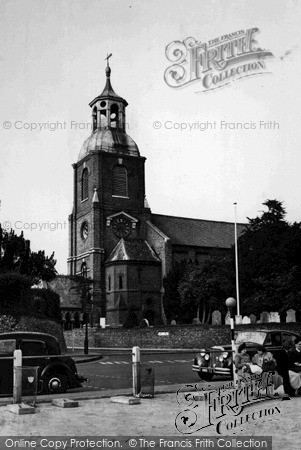 Sunbury, St Mary's Church, c.1955. Reproduced courtesy of The Francis Frith Collection