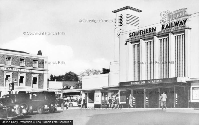 Photo of Surbiton, The Station c.1955