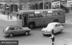 Bus And Austin A40 Cars c.1960, Sutton