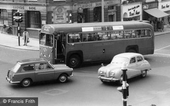 Sutton, Bus and Austin A40 Cars c1960