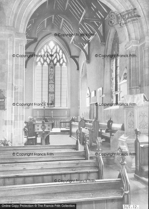 Photo of Sutton, Church Interior c.1965