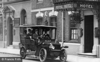 Sutton Coldfield, Car at Royal Hotel, High Street c1915