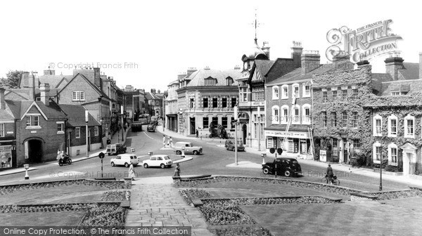Sutton Coldfield, High Street and Gardens c1960