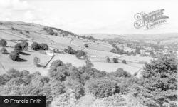 Sutton In Craven, Sutton Clough And Ethel Tower c.1965, Sutton-In-Craven