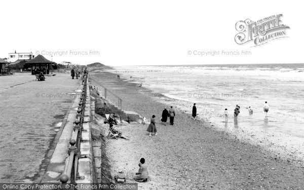 Sutton-On-Sea, Promenade and Beach c1950