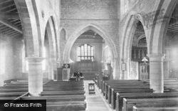 Sutton-on-Trent, All Saints Church Interior 1913, Sutton On Trent