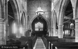 Sutton-on-Trent, Church Interior 1909, Sutton On Trent