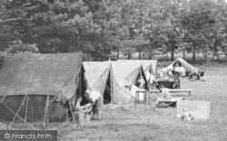Tents, Sutton Vale Caravan And Camping Park c.1950, Sutton