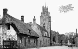 Sutton, The Village And St Andrew's Church c.1955