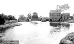 Elvington Sluice And Weir c.1960, Sutton Upon Derwent