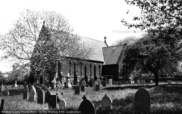 Swadlincote, the Parish Church c1950