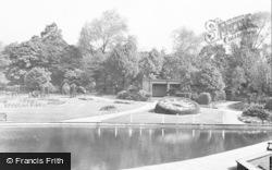 Swadlincote, The Floral Clock, Eureka Park c.1955