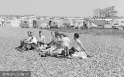 Friends And Family On The Beach c.1950, Swalecliffe